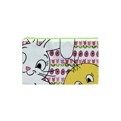 Easter Bunny And Chick  Cosmetic Bag (xs) by Valentinaart