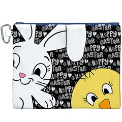 Easter Bunny And Chick  Canvas Cosmetic Bag (xxxl) by Valentinaart