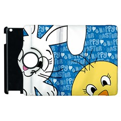 Easter Bunny And Chick  Apple Ipad 2 Flip 360 Case by Valentinaart