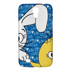 Easter Bunny And Chick  Samsung Galaxy Mega 6 3  I9200 Hardshell Case by Valentinaart