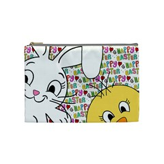 Easter Bunny And Chick  Cosmetic Bag (medium)  by Valentinaart