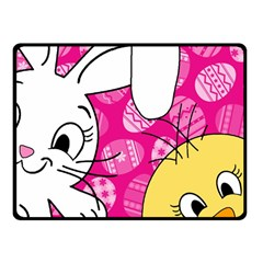 Easter Bunny And Chick  Fleece Blanket (small) by Valentinaart