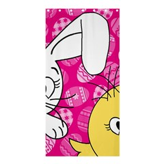Easter Bunny And Chick  Shower Curtain 36  X 72  (stall)  by Valentinaart