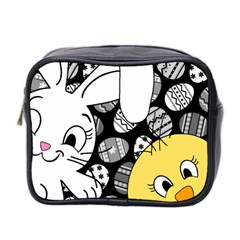 Easter Bunny And Chick  Mini Toiletries Bag 2 Side by Valentinaart