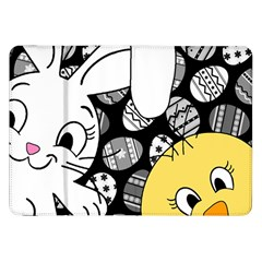Easter Bunny And Chick  Samsung Galaxy Tab 8 9  P7300 Flip Case by Valentinaart