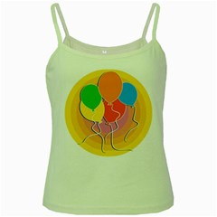 Birthday Party Balloons Colourful Cartoon Illustration Of A Bunch Of Party Balloon Green Spaghetti Tank by Nexatart