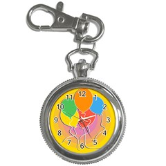 Birthday Party Balloons Colourful Cartoon Illustration Of A Bunch Of Party Balloon Key Chain Watches by Nexatart