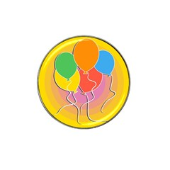Birthday Party Balloons Colourful Cartoon Illustration Of A Bunch Of Party Balloon Hat Clip Ball Marker (10 Pack) by Nexatart