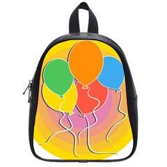 Birthday Party Balloons Colourful Cartoon Illustration Of A Bunch Of Party Balloon School Bags (small)  by Nexatart