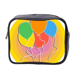 Birthday Party Balloons Colourful Cartoon Illustration Of A Bunch Of Party Balloon Mini Toiletries Bag 2 Side by Nexatart