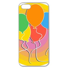 Birthday Party Balloons Colourful Cartoon Illustration Of A Bunch Of Party Balloon Apple Seamless Iphone 5 Case (clear)