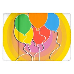 Birthday Party Balloons Colourful Cartoon Illustration Of A Bunch Of Party Balloon Samsung Galaxy Tab 10 1  P7500 Flip Case
