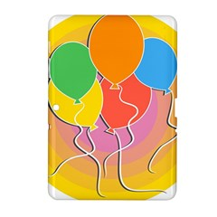 Birthday Party Balloons Colourful Cartoon Illustration Of A Bunch Of Party Balloon Samsung Galaxy Tab 2 (10 1 ) P5100 Hardshell Case