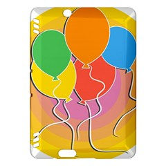 Birthday Party Balloons Colourful Cartoon Illustration Of A Bunch Of Party Balloon Kindle Fire Hdx Hardshell Case by Nexatart