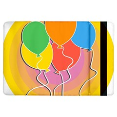 Birthday Party Balloons Colourful Cartoon Illustration Of A Bunch Of Party Balloon Ipad Air Flip