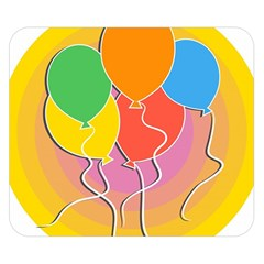Birthday Party Balloons Colourful Cartoon Illustration Of A Bunch Of Party Balloon Double Sided Flano Blanket (small)