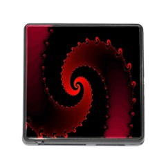Red Fractal Spiral Memory Card Reader (square) by Nexatart