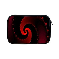 Red Fractal Spiral Apple Ipad Mini Zipper Cases by Nexatart
