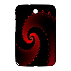 Red Fractal Spiral Samsung Galaxy Note 8 0 N5100 Hardshell Case  by Nexatart