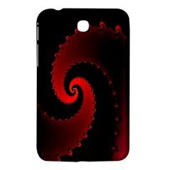 Red Fractal Spiral Samsung Galaxy Tab 3 (7 ) P3200 Hardshell Case  by Nexatart