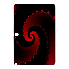 Red Fractal Spiral Samsung Galaxy Tab Pro 12 2 Hardshell Case by Nexatart