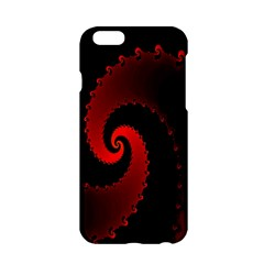 Red Fractal Spiral Apple Iphone 6/6s Hardshell Case by Nexatart