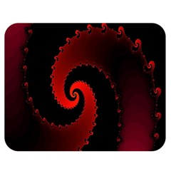 Red Fractal Spiral Double Sided Flano Blanket (medium)  by Nexatart