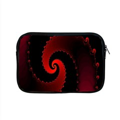 Red Fractal Spiral Apple Macbook Pro 15  Zipper Case by Nexatart