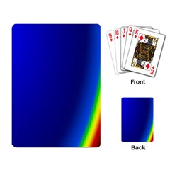 Blue Wallpaper With Rainbow Playing Card