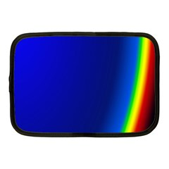 Blue Wallpaper With Rainbow Netbook Case (medium)