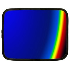 Blue Wallpaper With Rainbow Netbook Case (large) by Nexatart