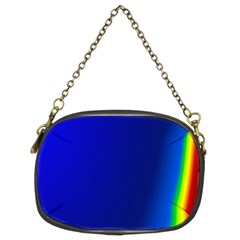 Blue Wallpaper With Rainbow Chain Purses (two Sides)  by Nexatart