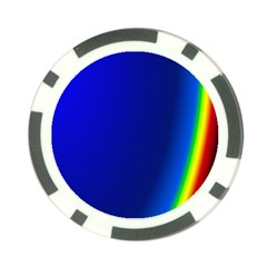 Blue Wallpaper With Rainbow Poker Chip Card Guard (10 Pack) by Nexatart