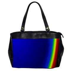 Blue Wallpaper With Rainbow Office Handbags by Nexatart