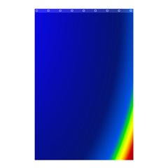 Blue Wallpaper With Rainbow Shower Curtain 48  X 72  (small)  by Nexatart