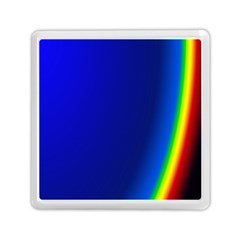 Blue Wallpaper With Rainbow Memory Card Reader (square)  by Nexatart