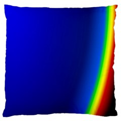 Blue Wallpaper With Rainbow Large Cushion Case (one Side)