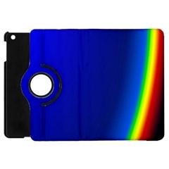 Blue Wallpaper With Rainbow Apple Ipad Mini Flip 360 Case by Nexatart