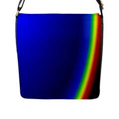 Blue Wallpaper With Rainbow Flap Messenger Bag (l)
