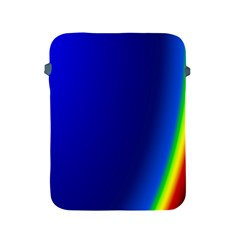 Blue Wallpaper With Rainbow Apple Ipad 2/3/4 Protective Soft Cases by Nexatart