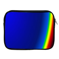 Blue Wallpaper With Rainbow Apple Ipad 2/3/4 Zipper Cases