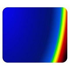 Blue Wallpaper With Rainbow Double Sided Flano Blanket (small)  by Nexatart