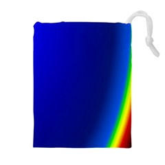 Blue Wallpaper With Rainbow Drawstring Pouches (extra Large) by Nexatart