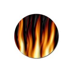 Dark Flame Pattern Magnet 3  (round)