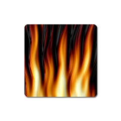 Dark Flame Pattern Square Magnet