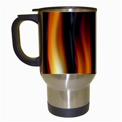 Dark Flame Pattern Travel Mugs (white)