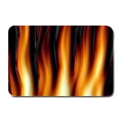 Dark Flame Pattern Plate Mats by Nexatart