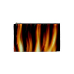 Dark Flame Pattern Cosmetic Bag (small)  by Nexatart