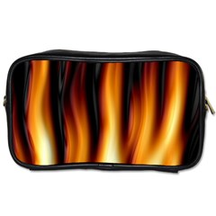 Dark Flame Pattern Toiletries Bags 2 Side by Nexatart