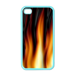 Dark Flame Pattern Apple Iphone 4 Case (color)
